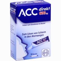 Abbildung von Acc Direkt 600mg Pulver Zum Einnehmen im Beutel 10 Stück