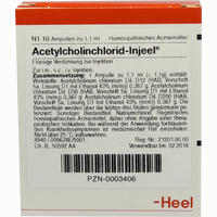 Acetylcholinchlorid-injeel Ampullen  10 Stück