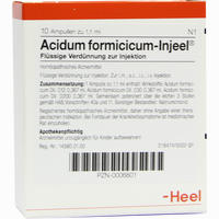 Acidum Formicicum-injeel Ampullen 10 Stück