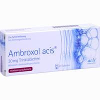 Abbildung von Ambroxol Acis 30mg Trinktabletten Trt 20 Stück