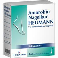 Amorolfin Nagelkur Heumann 5% Wirkstoffhaltiger Nagellack Lösung 3 ml