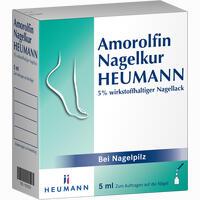 Amorolfin Nagelkur Heumann 5% Wirkstoffhaltiger Nagellack Lösung 5 ml