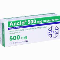 Abbildung von Ancid 500mg Kautabletten 50 Stück