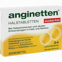 Anginetten Halstabletten Zuckerfrei  Lutschtabletten 24 Stück