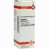 Argentum Nitricium D6  Dilution Dhu-arzneimittel 20 ML