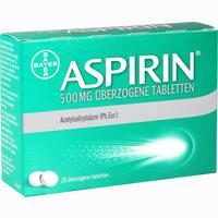 Abbildung von Aspirin 500mg überzogene Tabletten  20 Stück