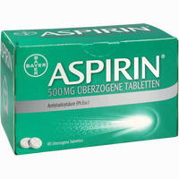 Abbildung von Aspirin 500mg überzogene Tabletten  80 Stück
