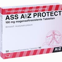 Ass Abz Protect 100 Mg Magensaftresistente Tabletten  50 Stück