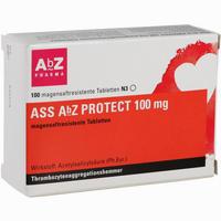 Ass Abz Protect 100 Mg Magensaftresistente Tabletten  100 Stück
