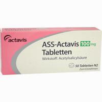 Ass-actavis 100mg Tabletten   50 Stück