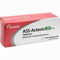 Ass-actavis 100mg Tabletten   100 Stück