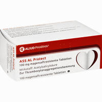 Ass Al Protect 100mg Magensaftresistente Tabletten   100 Stück
