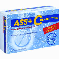 Abbildung von Ass + C Hexal gegen Schmerzen und Fieber Brausetabletten 20 Stück