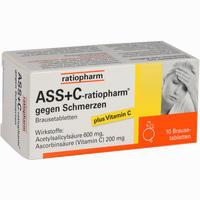 Abbildung von Ass+c- Ratiopharm gegen Schmerzen Brausetabletten 10 Stück