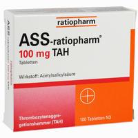Ass-ratiopharm 100 Tah  Tabletten 100 Stück