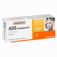 Abbildung von Ass- Ratiopharm 500mg Tabletten 30 Stück