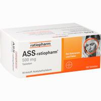 Abbildung von Ass- Ratiopharm 500mg Tabletten 100 Stück