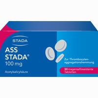 Abbildung von Ass Stada 100mg Magensaftresistente Tabletten  50 Stück
