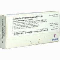 Aurum D10 / Ferrum Sidereum D10 Aa Ampullen 8X1 ml