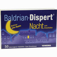 Abbildung von Baldrian Dispert Nacht Zum Einschlafen Tabletten 50 Stück
