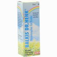 Balkis Nasentropfen Für Kinder 0,05%  10 ml
