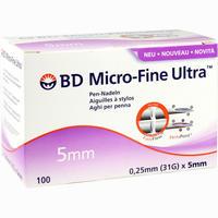 Bd Micro-fine Ultra Pen-nadel 0.25x5mm  Kanülen 100 Stück