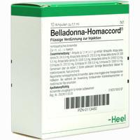 Belladonna Homaccord  Ampullen 10 Stück