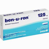 Abbildung von Ben- U- Ron 125mg Säuglingszäpfchen  10 Stück