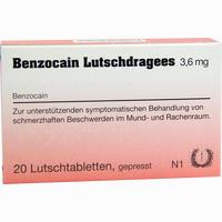 Abbildung von Benzocain Lutschdragees Lutschtabletten 20 Stück