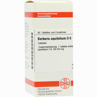 Berberis Aquif D6  Tabletten 80 Stück