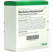 Berberis Homaccord  Ampullen 10 Stück