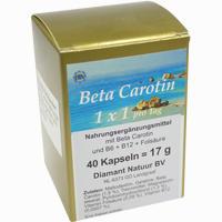 Beta Carotin 1 X 1 Pro Tag  Kapseln 40 Stück