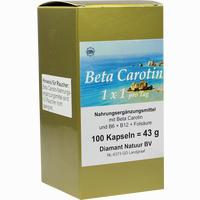 Beta Carotin 1 X 1 Pro Tag  Kapseln 100 Stück