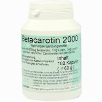 Betacarotin 2000  Kapseln 100 Stück