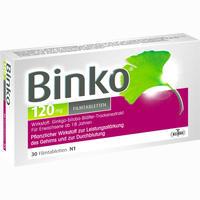 Abbildung von Binko 120mg Filmtabletten  30 Stück