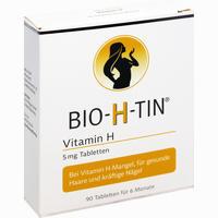 Abbildung von Bio H Tin Vitamin H 5mg für 6 Monate Tabletten 90 Stück
