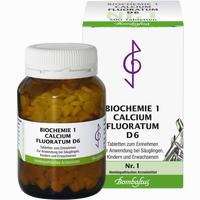 Biochemie 1 Calcium Fluoratum D6  Tabletten 500 Stück