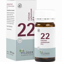 Abbildung von Biochemie Pflüger Nr. 22 Calcium Carbonicum D6 Tabletten 100 Stück