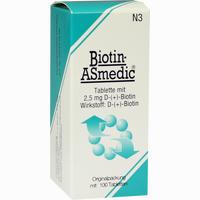 Biotin-asmedic 2.5mg  Tabletten 100 Stück
