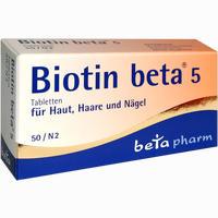 Biotin Beta 5  Tabletten 50 Stück
