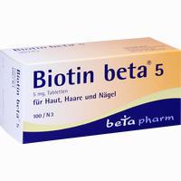 Abbildung von Biotin Beta 5 Tabletten 100 Stück