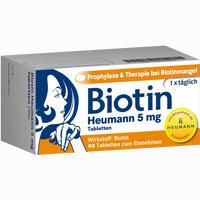 Biotin Heumann 5mg Tabletten   90 Stück