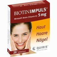 Abbildung von Biotin Impuls 5mg Tabletten 20 Stück