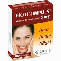 Biotin Impuls 5mg  Tabletten 100 Stück