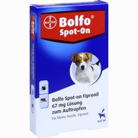 Abbildung von Bolfo Spot- On Fipronil für Kleine Hunde 67 Mg Lösung 3 Stück