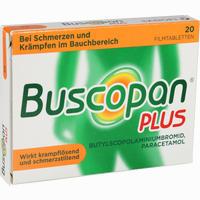 Abbildung von Buscopan Plus Filmtabletten Boehringer ingelheim 20 Stück