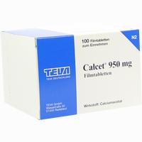 Abbildung von Calcet 950mg Filmtabletten  100 Stück