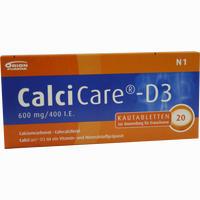 Abbildung von Calcicare D3 Kautabletten 20 Stück