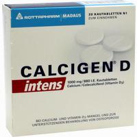 Calcigen D Intens 1000 Mg/880 I.e.kautabletten   20 Stück
