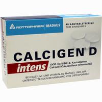 Calcigen D Intens 1000 Mg/880 I.e.kautabletten   48 Stück